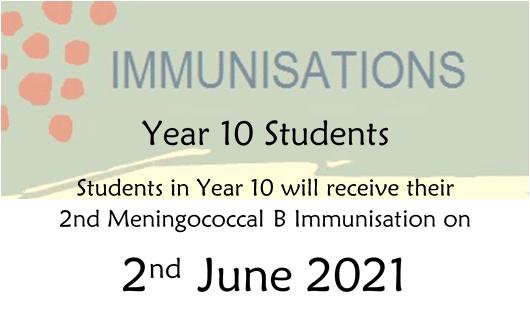 Year 10 Immunisations